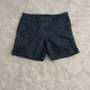 Calvin Klein Denim Roll Up Pocket Jean Shorts 14